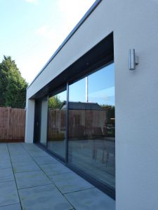 Contemporary extension external view